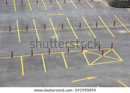 Empty car park Stok fotoğraf ©