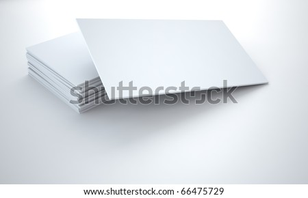 empty cardboard tablets on a white background