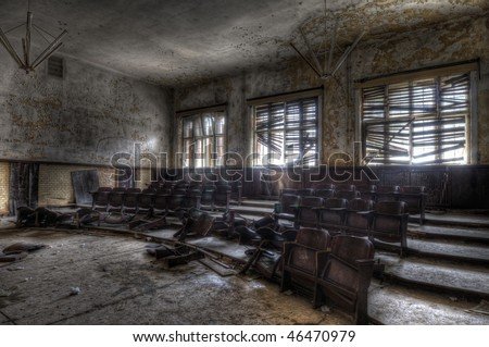 empty chairs - stock photo