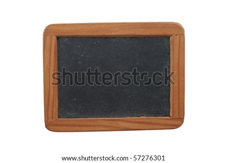 Empty Chalk Board isolated on white background.