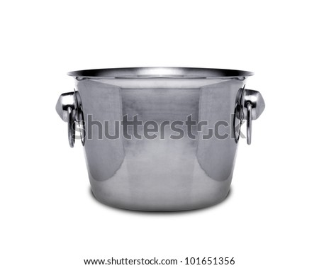 Empty champagne ice bucket