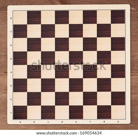 Empty chess board - equipment of leisure games.