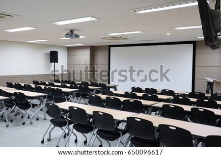 Empty classroom preparing for education Stock photo ©