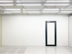 Empty Clean room with exit door at factory