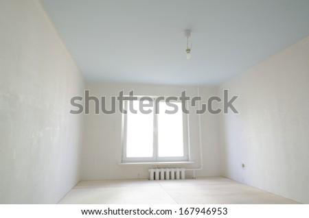empty clean small room interior under renovation