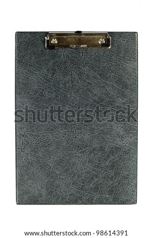 Empty clipboard isolated on white background