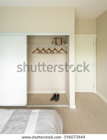 Empty Closet Working Cupboard In Bedroom 196073444