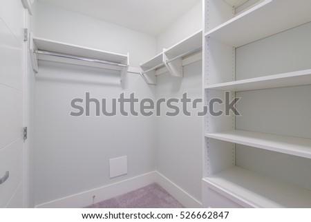Superbe Empty Closet, Working Closet, Cupboard In Bedroom.