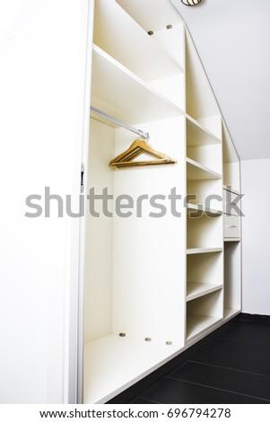 Empty Closet, Working Closet, Cupboard In Bedroom. #696794278