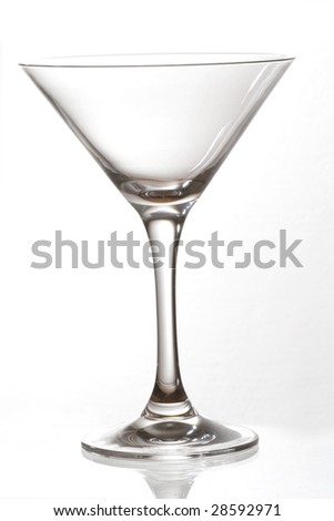 empty cocktail glass