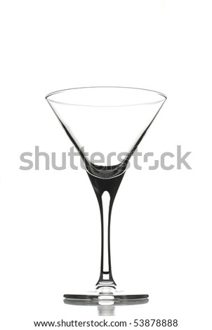 Empty cocktail glass for martini isolated on white - stock photo