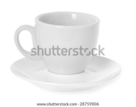 Empty coffe cup isolated