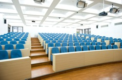 Empty college lecture hall in university