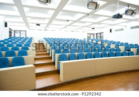 Empty college lecture hall in university Stock photo ©