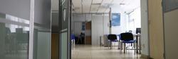 Empty company office in time of coronavirus quarantine close-up