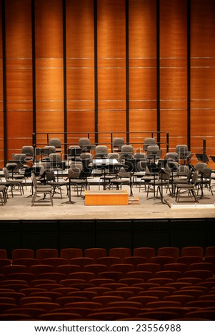 empty concert hall - stock photo