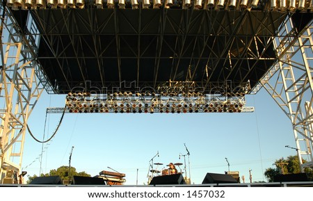 Empty Concert Stage - stock photo