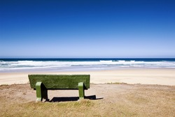 Empty Concrete Bench at  the Beach ( Mossel Bay Area)