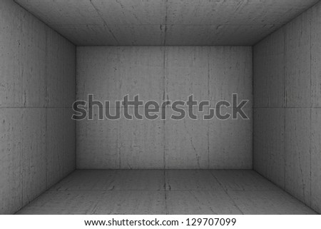 empty concrete room background