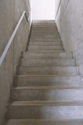 empty concrete staircase or cement stairs, modern contemporary architecture or way up concept
