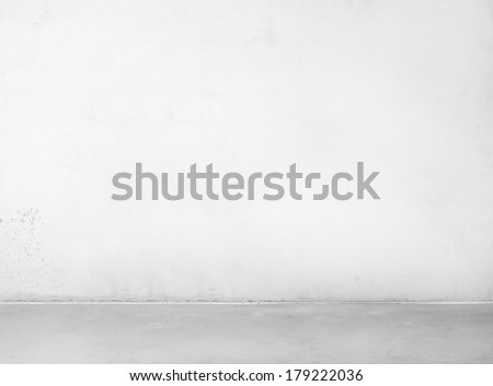 Empty concrete wall and floor.