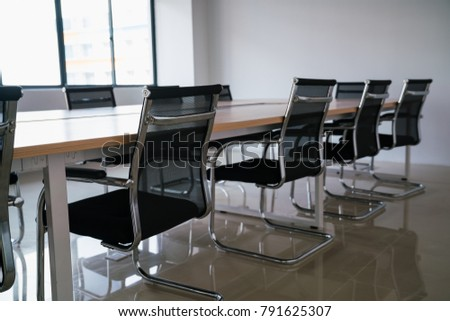Empty Conference Room With Board Room Table And Chairs Ez Canvas