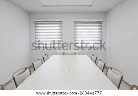 empty conference room with windows