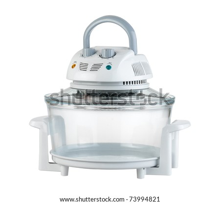 Empty convection stove for cooking food the image isolated on white