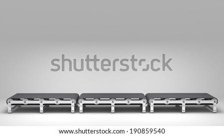 empty conveyor belt  for use in presentations, manuals, design, etc. Stockfoto ©
