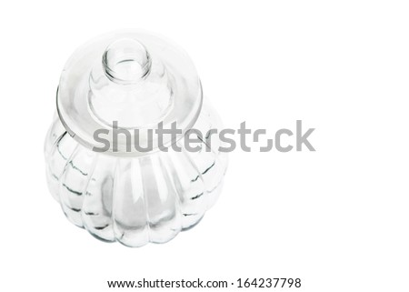 Empty cookie jar over white background #164237798