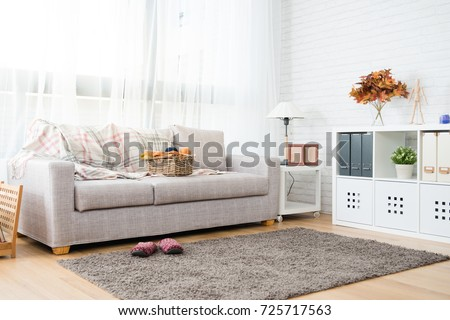 empty copy space autumn decoration living room with nobody no people for copy space background #725717563