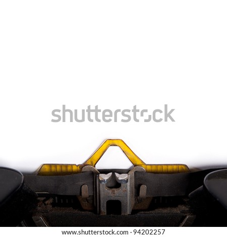 Empty copy space for message typed by vintage typewriter. - stock photo