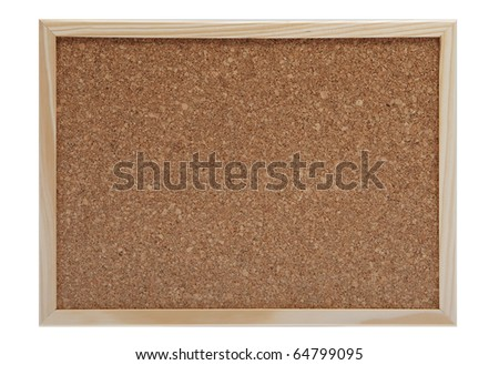 empty cork board with frame