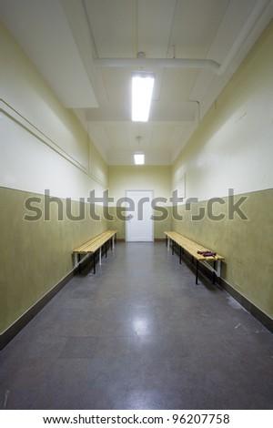 Empty corridor in a school building