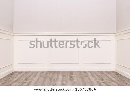 empty cozy vintage room