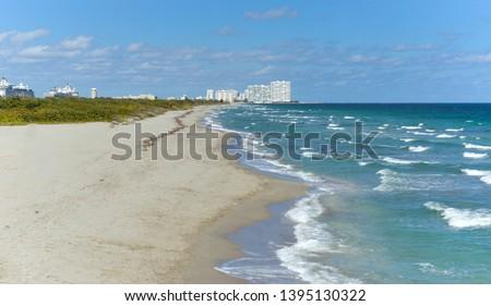 empty dania beach view during the day Zdjęcia stock ©