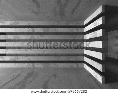 Empty dark abstract concrete room interior architecture background. 3d render illustration #598667282