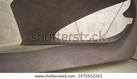 Empty dark abstract concrete smooth interior . Architectural background. 3D illustration and rendering #1472652263