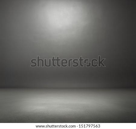 empty dark grey room