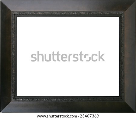Empty dark wooden frame