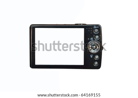 Empty digital camera isolated on white