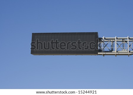 Empty digital road sign