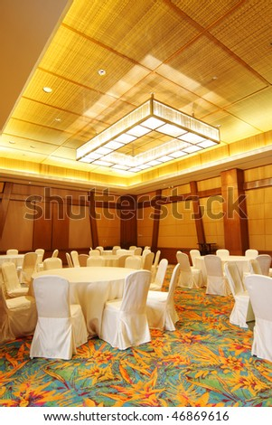 empty dining room in hotel