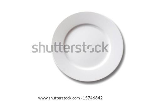 empty dinner plate - stock photo