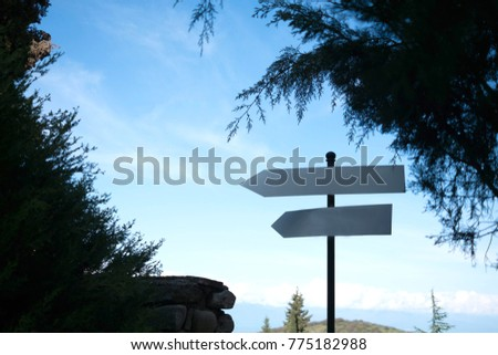 empty direction sign #775182988