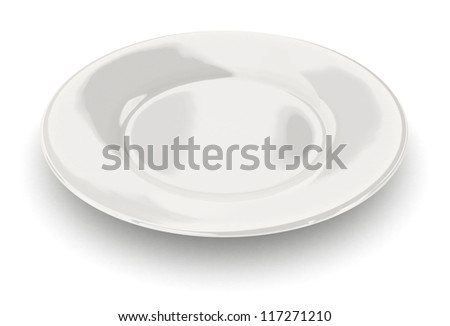 Empty dish - isolated on white