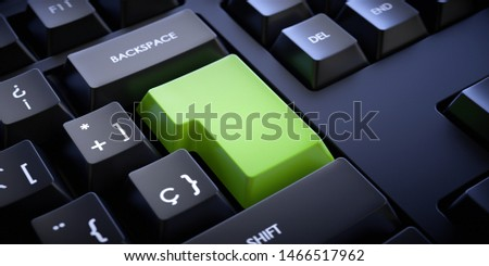 Empty enter key to enter text or logo. Keyboard without letters. #1466517962