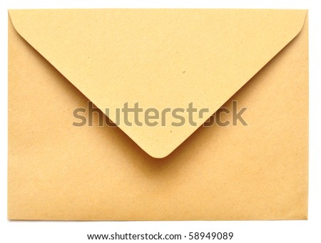 empty envelope isolated on the white background