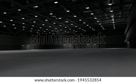 Empty exhibition center. backdrop for exhibition stands.3d render. Foto stock ©