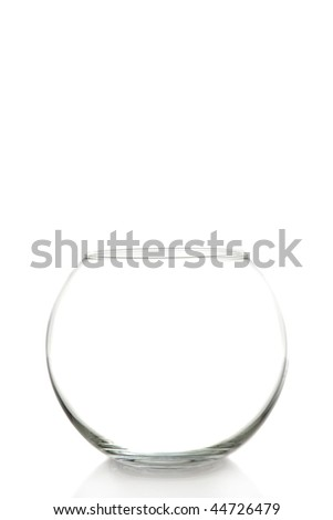 Clip Art Fish Bowl. stock photo : empty fish bowl